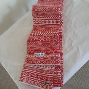 Lasoste nwot wool scarf